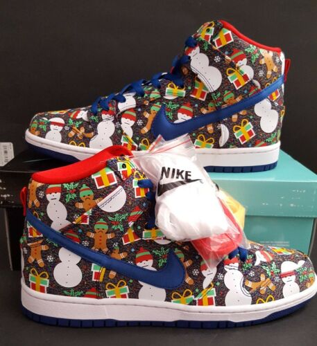 Nike SB Dunk High TRD QS Ugly Christmas Sweater Concepts SZ 11.5 RARE 881758 446