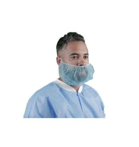 "Box of 1000 Polypropylene Beard Net Cover - Keystone 112NWI-BLUE -Non-Woven 18"""