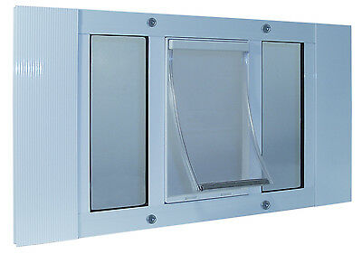 "37"" - 42"" WINDOW SASH Pet Cat Dog DOOR 7""x11"" Flap"