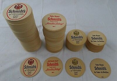 Schmidt's Beer Vintage Round 2 Sided Bar Coasters NOS New Lot of 400+
