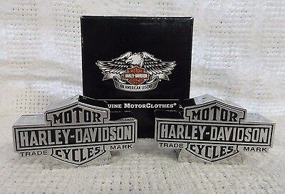 Harley Davidson Bar and Shield Logo Salt and Pepper Shaker Set