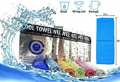BEST Ice Cold Instant Cooling Towel Running Jogging Hiking Climb Gym Chilly Pad
