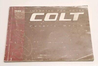 1989 DODGE COLT OWNERS MANUAL USER OPERATORS GUIDE GT DL V4 1.5L 1.6L 1.8L 2.0L