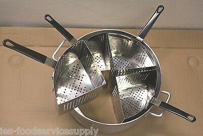 5 Piece Pasta Cooker Set - 4 Baskets 20 Quart Boiler Heavy Duty Commercial Pot