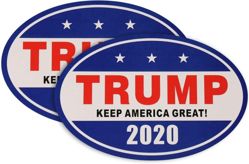 2 Magnetic Trump 2020 Keep America Great Decal Car Bumper Stickers 4X6 Inch
