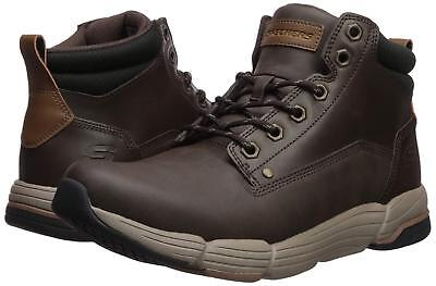 Skechers METCO-ATMORE Mens Chocolate 65779/CHOC Ankle Lace Up Boots