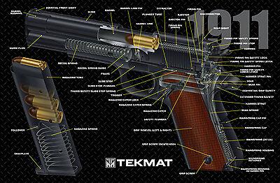 1911 Color 3D Cutaway  Armorers Gun Cleaning Bench Mat  NEW