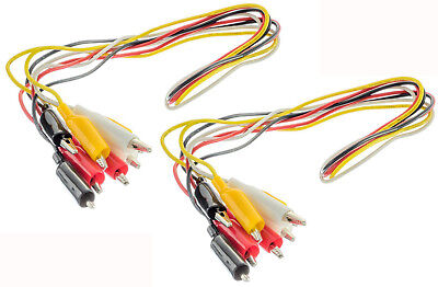 8pc Test Lead Double Ended Insulated Alligator Jumper Wire 36 Electrical