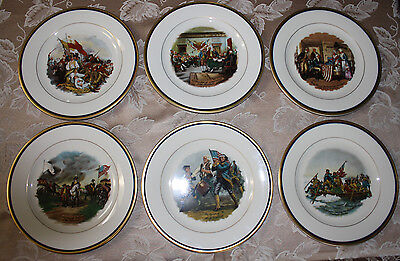 RARE!!! Colonial American Decorative Plates Set of 6 by Pickard - Hand Decorated