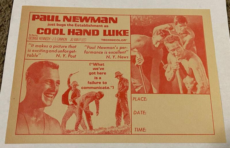 Original 1967 Cool Hand Luke Movie Herald, 7x10