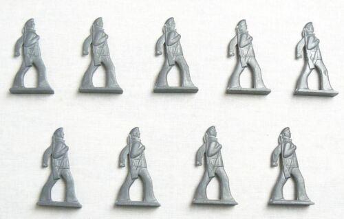 Vintage Soviet Russian 9 pcs Tin Pewter Soldiers Revolution Sailors Toys USSR  1