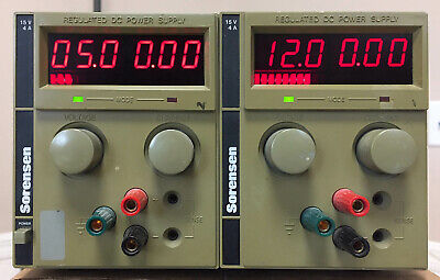 Sorensen Xtd 15-4 Dual Dc Power Supply 0-15v At 4a