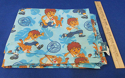 - Toddler Size Flat Sheet Go Diego Go Nick Jr. Retired Pattern In Blue