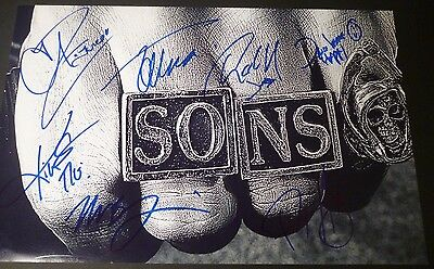 Sons Of Anarchy Cast X7 Authentic Hand Signed 11X17 Photo Charlie Hunnam  Proof