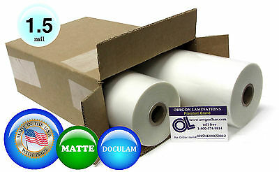 Doculam Hot Laminating Film 12 X 500 On 1 Core 1.5 Mil 2 Rolls Matte
