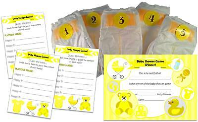 What's in the nappy? Dirty Nappy Baby Shower Game, 12 Players Girl / Boy /Unisex](Girl In The Shower)