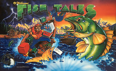 "Williams ""Fishtales"" Pinball Translite  (Backglass) New NOS"