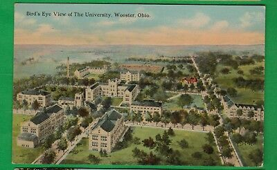 Wooster, Oh/ Bird's eye view of the University/ non-linen postcard