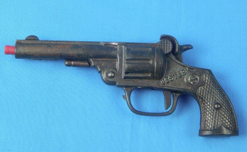 Vintage US Cast Iron Western Cowboy Toy Cap Gun Single Action Revolver Pistol
