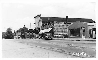 Morley Mi Appliance Store Wringer Washer Rough Brick Wall Camper Rppc 1940S
