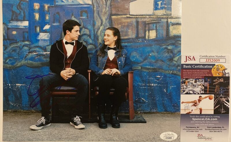 Dylan Minnette Signed 8x10 Photo 13 Reasons Why Autographed JSA COA
