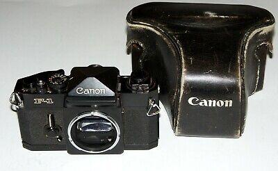 Vintage Professional Canon F-1 35 mm SLR film CAMERA Works EXCELLENT