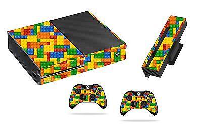 Lego Brick Sticker/Skin xbox one Console,Kinect & Remote controllers, x1sk1