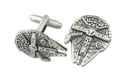 Star Wars Millennium Falcon Fashion Novelty Cuff Links Movie with Gift Box](Star Wars Novelty Gifts)