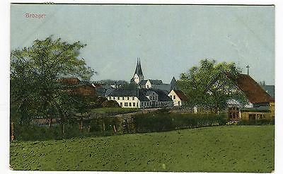 Original AK Broager Broacker Panorama Kirche Ansicht Nordschleswig Dänemark 1917