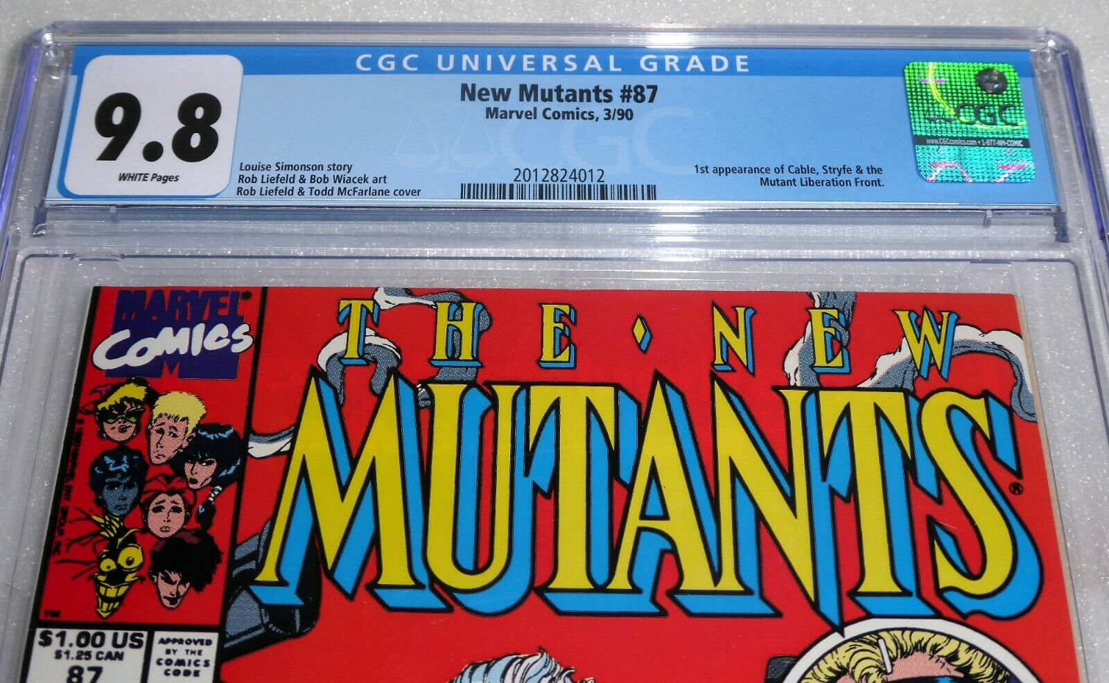 New Mutants #87 1st Cable Appearance CGC Universal Grade Comic 9.8 Marvel POW 1