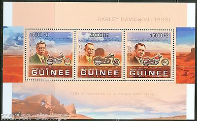 GUINEA 2013 110TH ANNIVERSARY OF THE HARLEY DAVIDSON MOTORCYCLE  SHEET