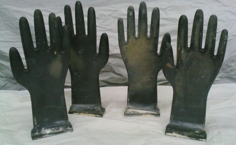 4  GLOVE MOLDS INDUSTRIAL STEAM PUNK HARD COMPOSITE PLASTIC #8055A