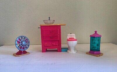 2015 barbie dream house replacement parts Bathroom Vanity, Toilet, Aquarium, Fan