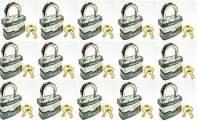Lock Set By Master 3ka Lot 15 Keyed Alike Commercial Steel Laminated Padlocks