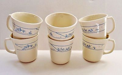 Corelle Cups Mugs 3 1/2 inch First of Spring Pattern Lot of 6  EUC