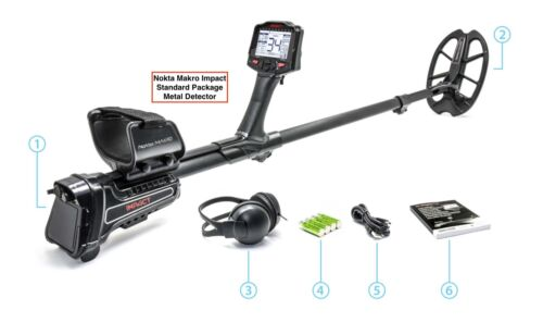 Nokta Makro Impact Multi Freq. Metal Detector w/ Waterproof DD Coil & Headphones