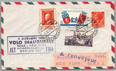 GP GOLDPATH: ITALY COVER 1959 AIR MAIL _CV691_P03