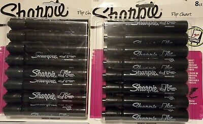 16 Black Sharpie Flip Chart Markers Bullet Tip Low Odor