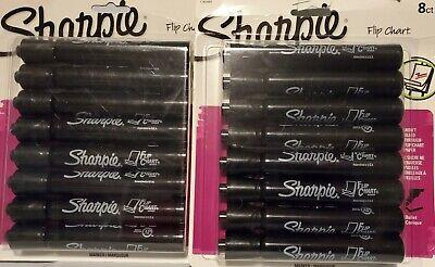 16 Black Sharpie Flip Chart Markers Bullet Tip Low Odor