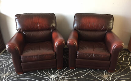 PAIR of MAGNIFICENT Moran BENSON Armchairs CHESTERFIELD Rolled Arms
