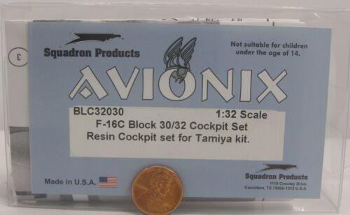 Avionix Resin Set 1:32 BLC32030 F-16C Block 30/32 Cockpit Set for Tamiya Kit