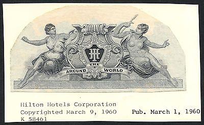 Hilton Hotels Corporation  March 9 1960 Unique Vignette Die Proof Bt3640