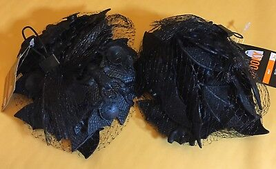2 bags of fake black bats window suction cups Halloween party favors 40 bats - Halloween Party Favor Cups