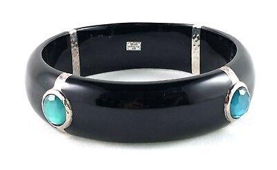 IPPOLITA Sterling Silver and Black Resin w/ DVFDENIM Bangle Bracelet