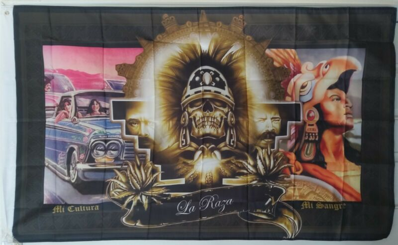 Huelga Bird 3X5 Flag La Raza Chicano Aztec Warrior Lowrider Mi Cultura Mi Sangre