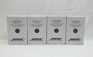 4x Bose Acoustimass/Lifestyle Double Cube Speakers Black New