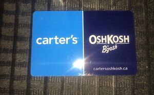 Carters Oshkosh gift cards 40 for50 or trade
