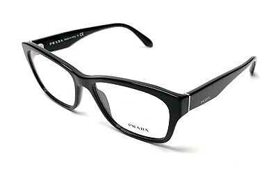 NEW PRADA VPR 24R 1AB-1O1 SHINY BLACK WOMEN'S EYEGLASSES AUTHENTIC FRAME 54-16