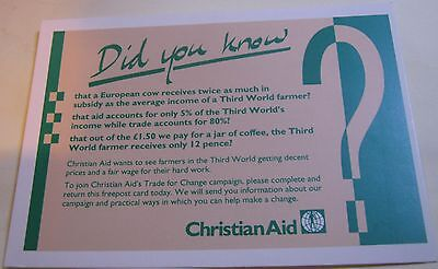 Advertising Charity Christian Aid - unposted