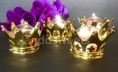 12PC Baby Shower Favors Fillable Gold Crown Party Decorations Girl Boy Princess](Boy Baby Shower Decor)
